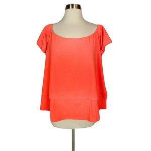 NWT✨SUSANA MONACO Blouse Top Neon Orange L